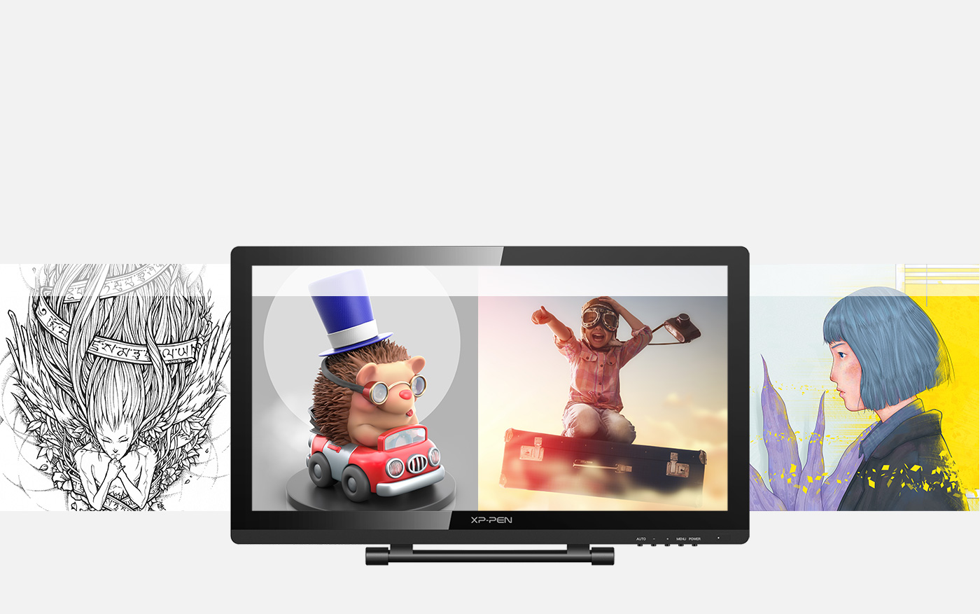 Draw, sketch, paint, and design on Artist 22 Pro pen monitor