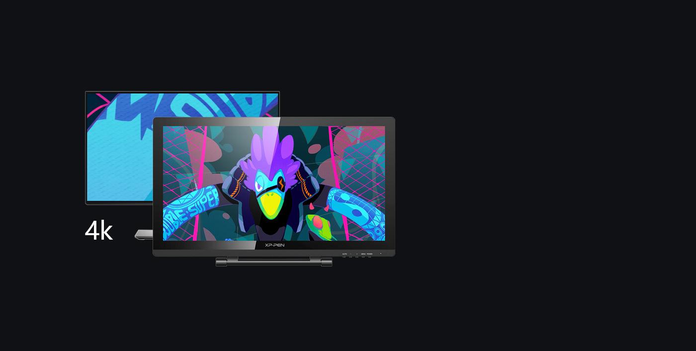 XP-Pen Artist 22 Pro Pen Display Monitor Supports 4k displays